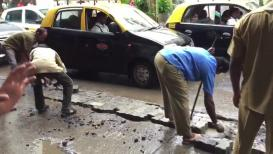 VIDEO : खड्ड्यांसाठी मुंबईकरांना मिळतेय 'तारीख पे तारीख'