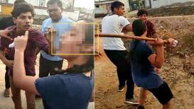 VIDEO: गर्लफ्रेंड सांगणे पडले महागात,तरुणीने काठीने झोड-झोड झोडपले