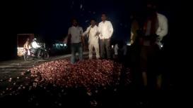 VIDEO: मालेगावात कांदा घसरला, संतप्त शेतकरी रस्त्यावर