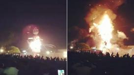 LIVE VIDEO : जळता रावण अंगावर पडू नये म्हणून लोक पळाले आणि रेल्वेखाली आले