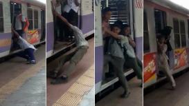 प्रत्येक पालकानं पाहावा हा VIDEO, शाळेतली मुलं-मुलीही करतायत रेल्वे स्टंट