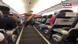 VIDEO : विमानात उस्फूर्त नृत्य करून एअर होस्टेसनी दिला प्रवाशांना सुखद धक्का