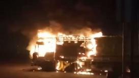 LIVE VIDEO : पेट्रोल पंपावरच ट्रकला लागली मोठी आग