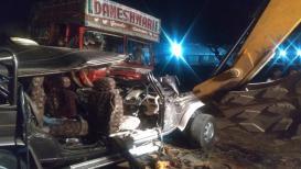 कर्नाटकात भीषण कार अपघातात पुण्यातील ५ कामगार जागीच ठार