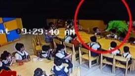 VIDEO : बडबड करतात म्हणून शिक्षिकेनं विद्यार्थांच्या तोंडाला चिटकवला सेलोटेप