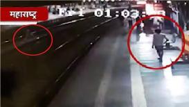 VIDEO : रेलवे स्थानकावर चोर-पुलिसांचा फिल्मीस्टाईल पाठलाग