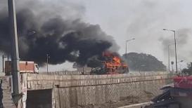 पालघरमध्ये सिलेंडर घेऊन जाणाऱ्या ट्रकचा स्फोट; पहा थरारक VIDEO