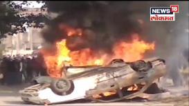VIDEO तरुणीचा संशयास्पद मृत्यू, संतप्त जमावाने लावली पोलीस स्टेशनला आग!