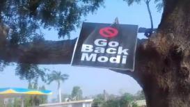 GoBackModi : यवतमाळमध्ये PM मोदींच्या विरोधात पोस्टरबाजी VIDEO