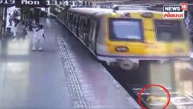 VIDEO: महिलेने मारली ट्रॅकवर उडी, अख्खी ट्रेन अंगावरून गेली पण...!