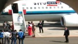 VIDEO : पंतप्रधान नरेंद्र मोदींच्या सुरक्षेत 'मोठी चूक'