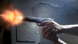 भाजप कार्यालयात होळी खेळताना आमदारावर गोळीबार