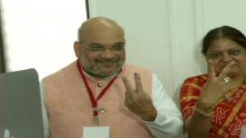 भाजपाध्यक्ष अमित शहांनी बजावला मतदानाचा हक्क