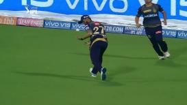 IPL 2019 : पार्थिवला आऊट करण्यासाठी नितीश राणानं केली अशी कसरत, पाहा व्हिडिओ