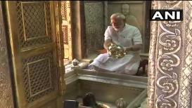 VIDEO: ऐतिहासिक विजयानंतर मोदी विश्वनाथाच्या चरणी, केला रुद्राभिषेक