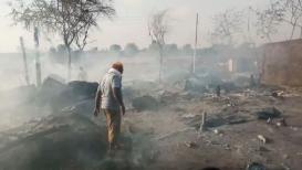 अमरावतीमध्ये भीषण अग्नितांडव, तब्बल 70 घरांची जळून राख