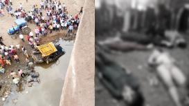 पुलावरून जीप नदीत कोसळली, 6 महिलांचा जागीच मृत्यू