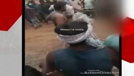 VIDEO: अमानुषतेचा कळस! अर्धनग्न करत तरुणाला बेदम मारहाण