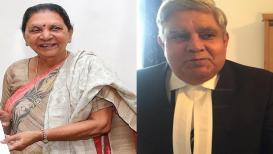 आनंदीबेन पटेल UPच्या राज्यपाल, धनखड ठेवणार 'दीदीं'च्या कारभारावर लक्ष