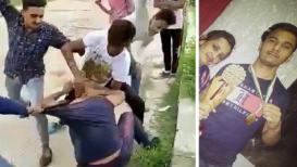 VIDEO: दहशत पसरवण्यासाठी भरदिवसा नेमाबजाला तीन तरुणांची बेदम मारहाण