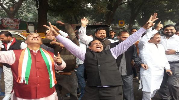 Assembly Election Result 2018: राजस्थानात काँग्रेसचा निकालाआधीच मोठा जल्लोष